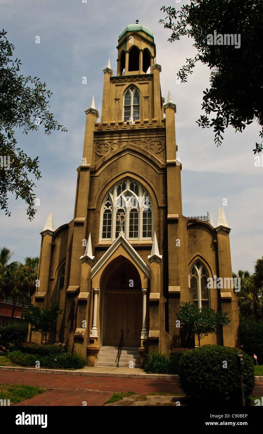 Congregation Mickve Israel, Reform Judaism Synagogue, Savannah, GA - Stock Image