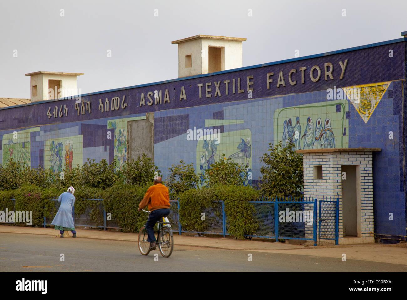 Asmara Textile Factory, Asmara, Eritrea, Africa - Stock Image