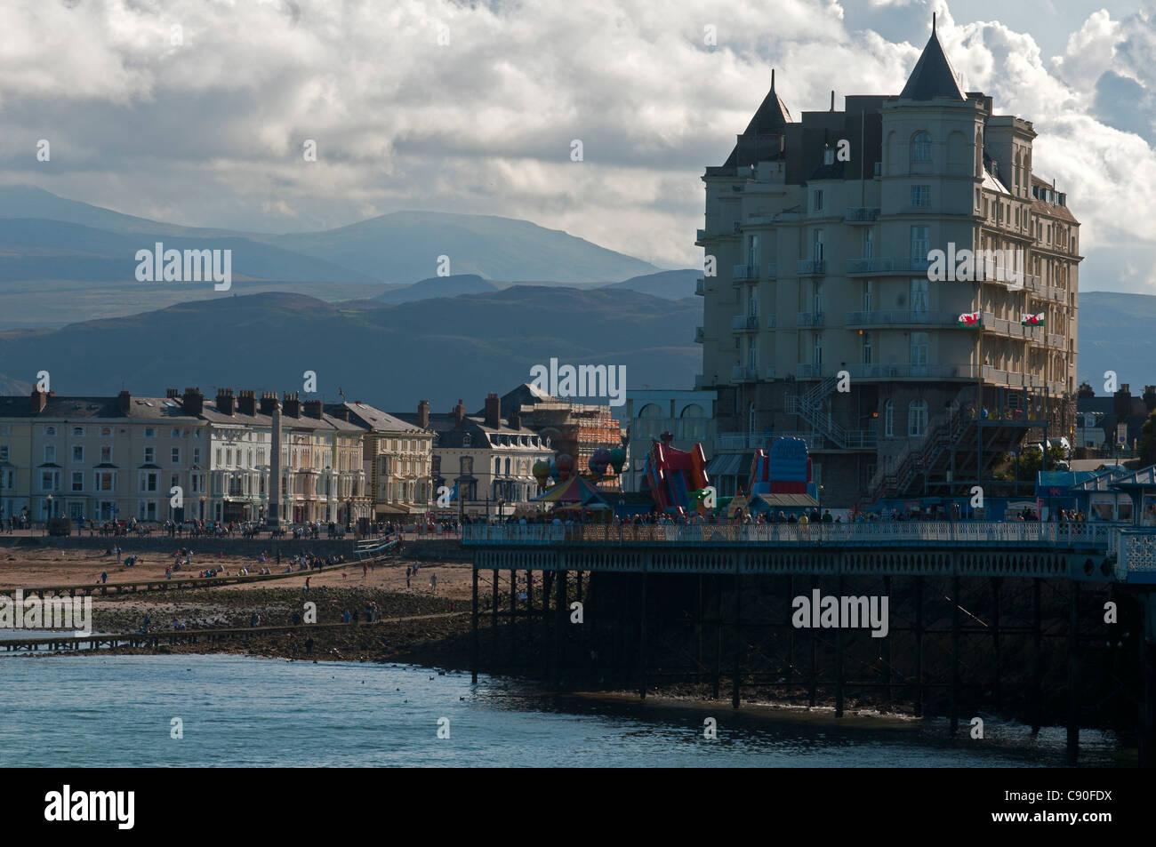 The seaside resort of Llandudno, Wales, UK - Stock Image