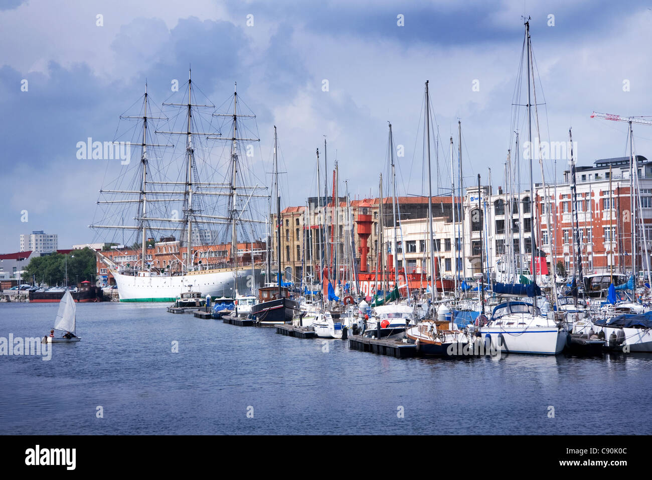 Dunkerque Inner Harbour France - Stock Image