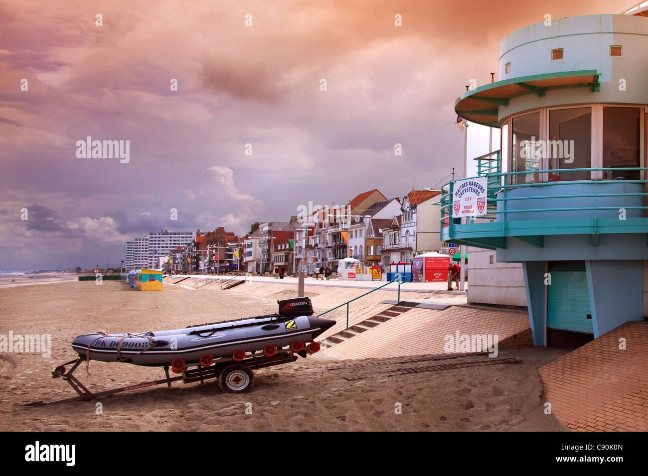 Dunkerque Malo les Bains France - Stock Image