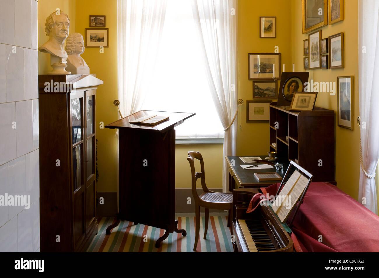 Study at Mendelssohn House in Goldschmidtstrasse, Leipzig, Saxony, Germany, Europe - Stock Image