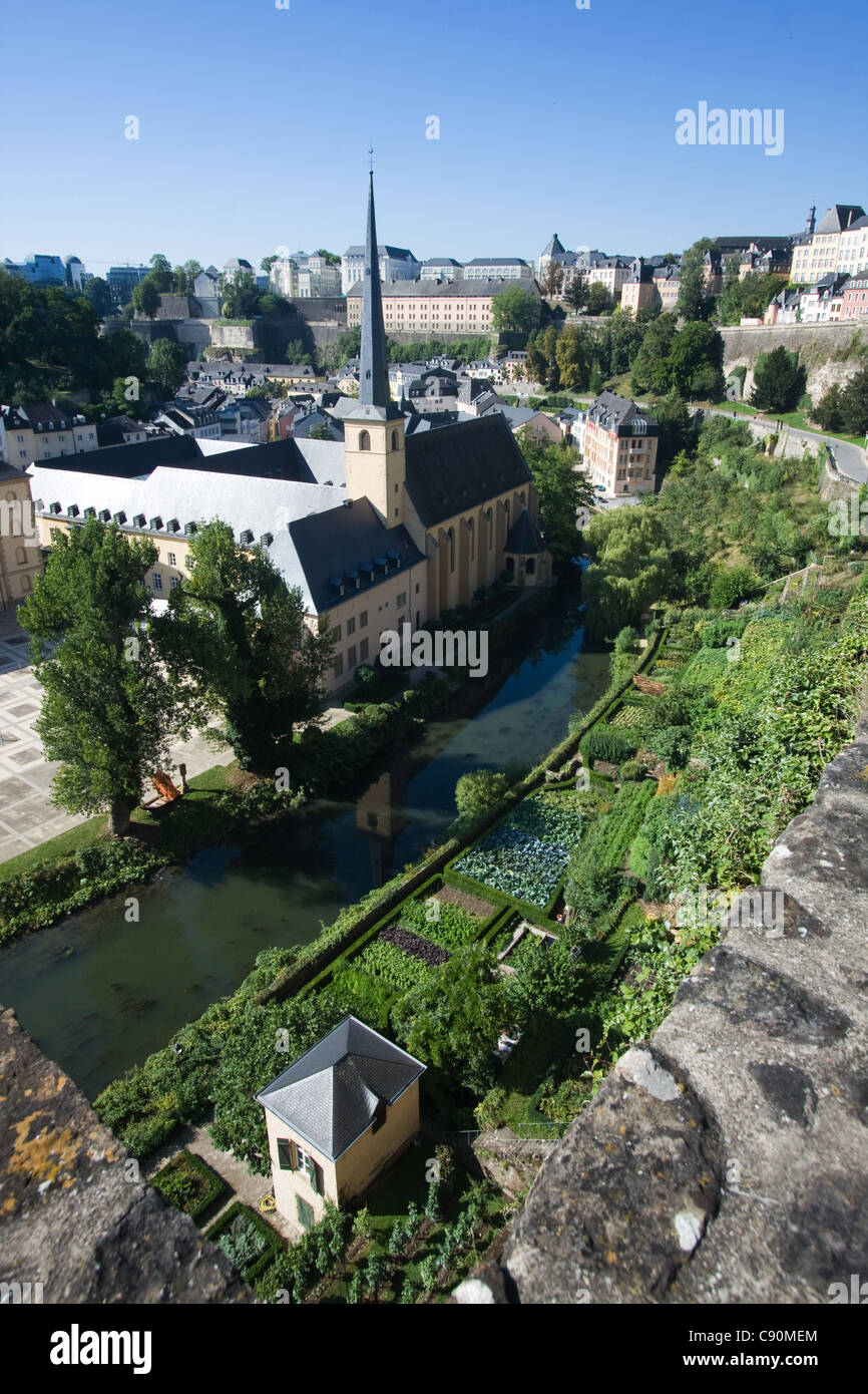 The Grund in luxembourg City - Stock Image