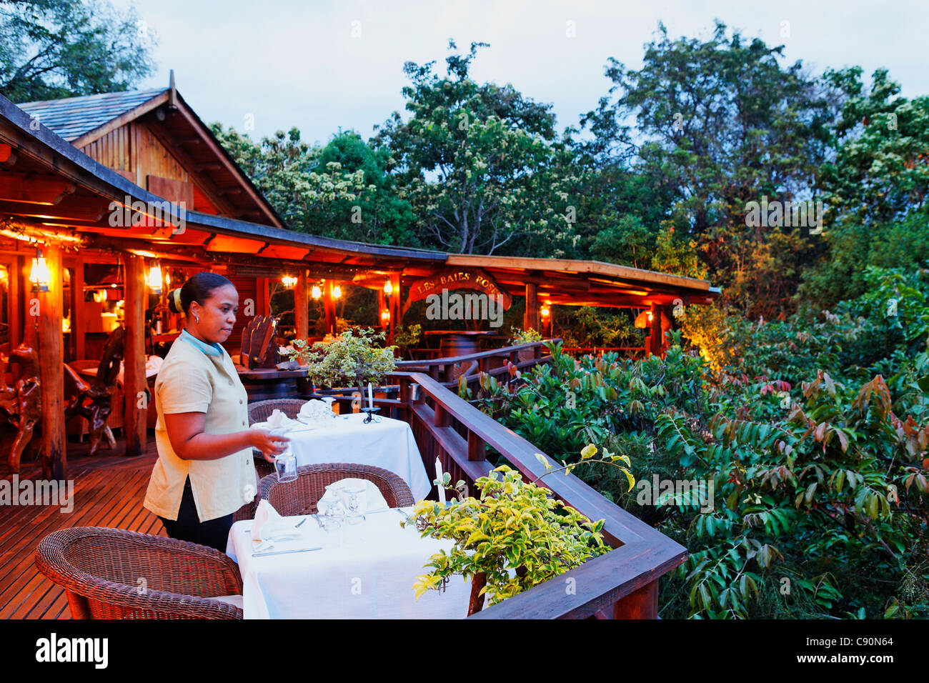 Hotel Lodge Tamarin in La Possession, La Reunion, Indian Ocean - Stock Image
