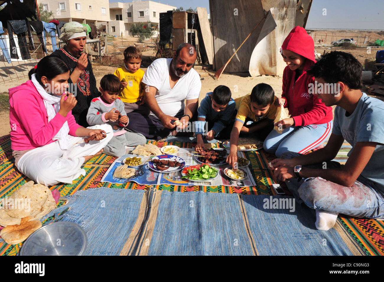 Bedouins from South Israel Celebrate Eid al-Adha - Stock Image
