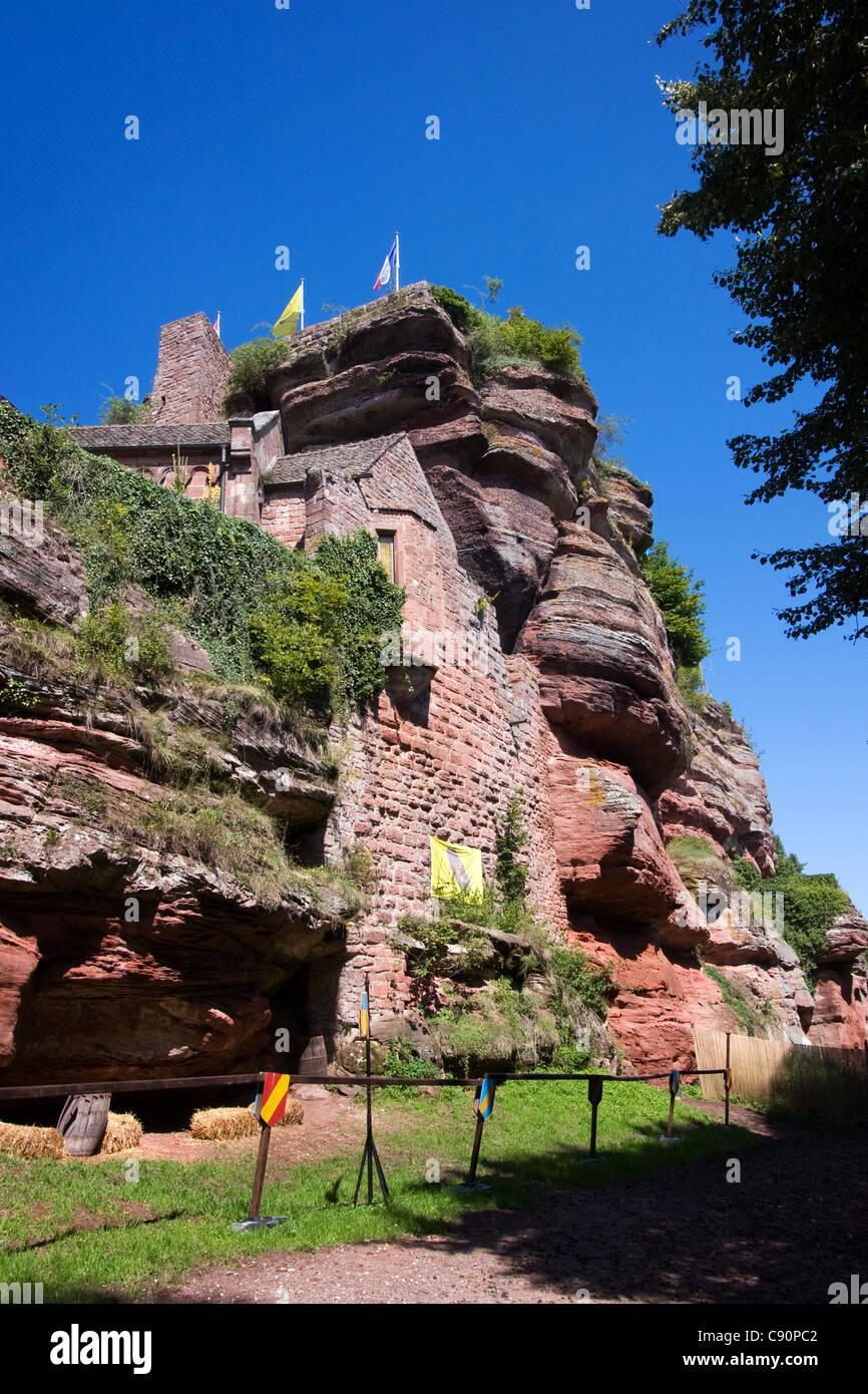 Le château du Haut-Barr , France - Stock Image