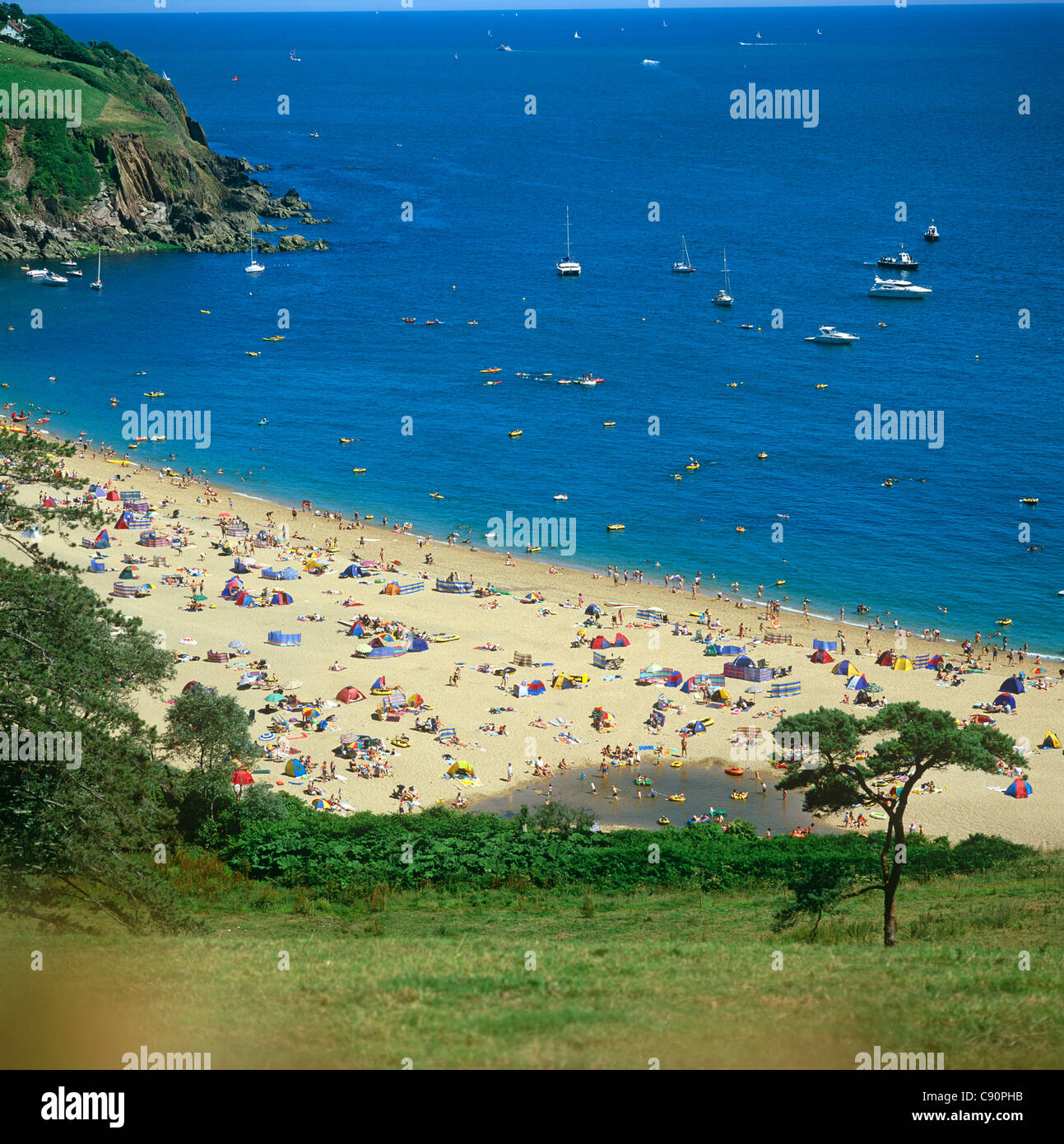 Blackpool Sands is in the South Hams in South Devon and is a lovely cove at the northern end of Start Bay. It is - Stock Image