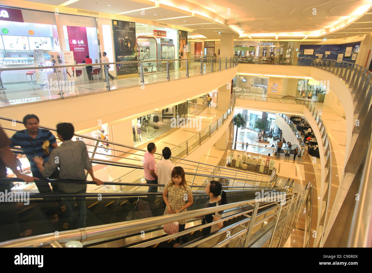 Interior Pacific Place shopping mall, Jakarta, Indonesia, Asia - Stock Image