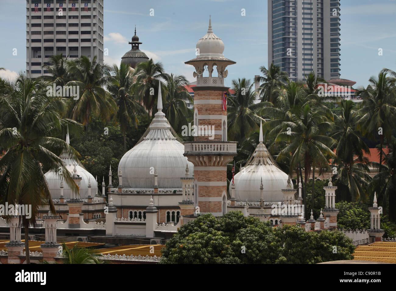 Mosque Masjid Jamek in Kuala lumpur, Kuala Lumpur, Malaysia, Asia - Stock Image