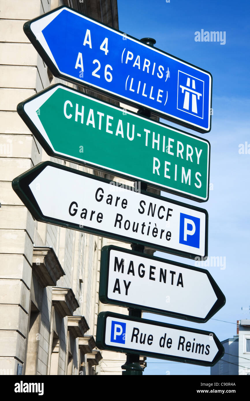 Road signs in France - Stock Image