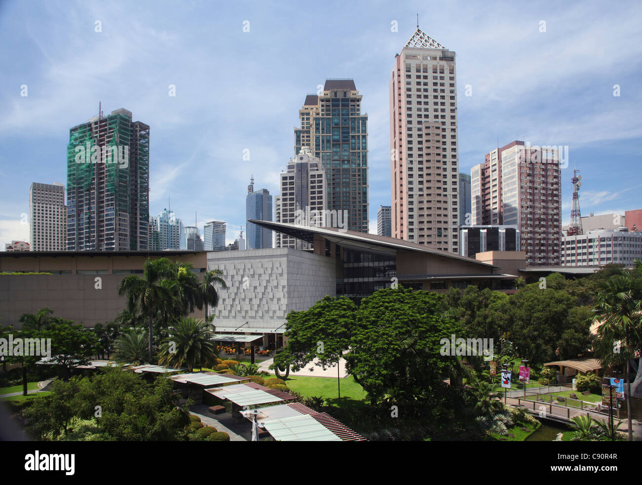 Greenbelt 5 shopping mall in Greenbelt Park in Makati City, Makati City, Manila, Luzon, Philippines, Asia - Stock Image
