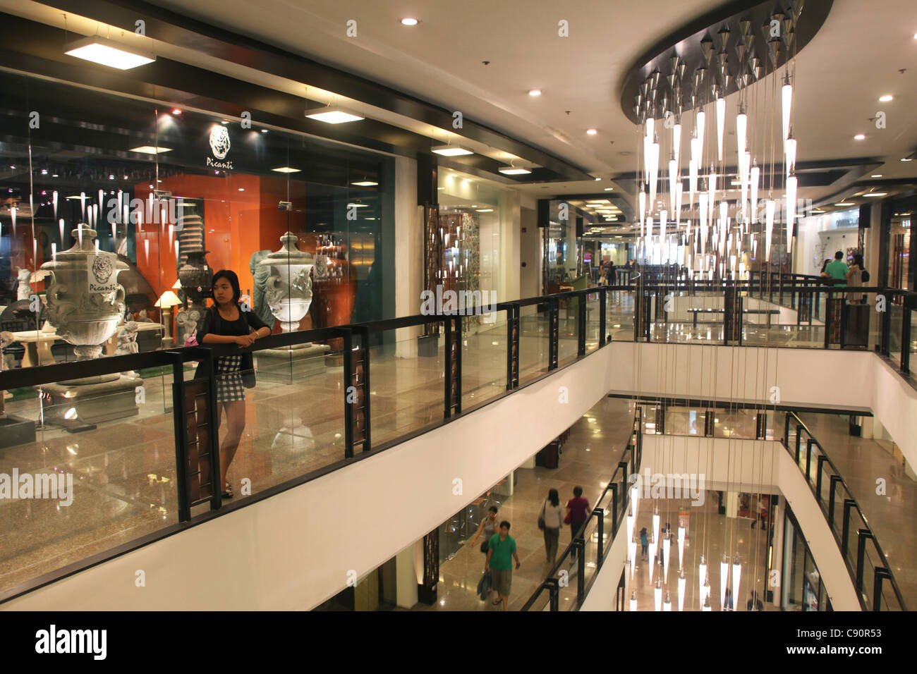Greenbelt 5 shopping mall in Makati, Manila, Makati City, Manila, Luzon Island, Philippines - Stock Image