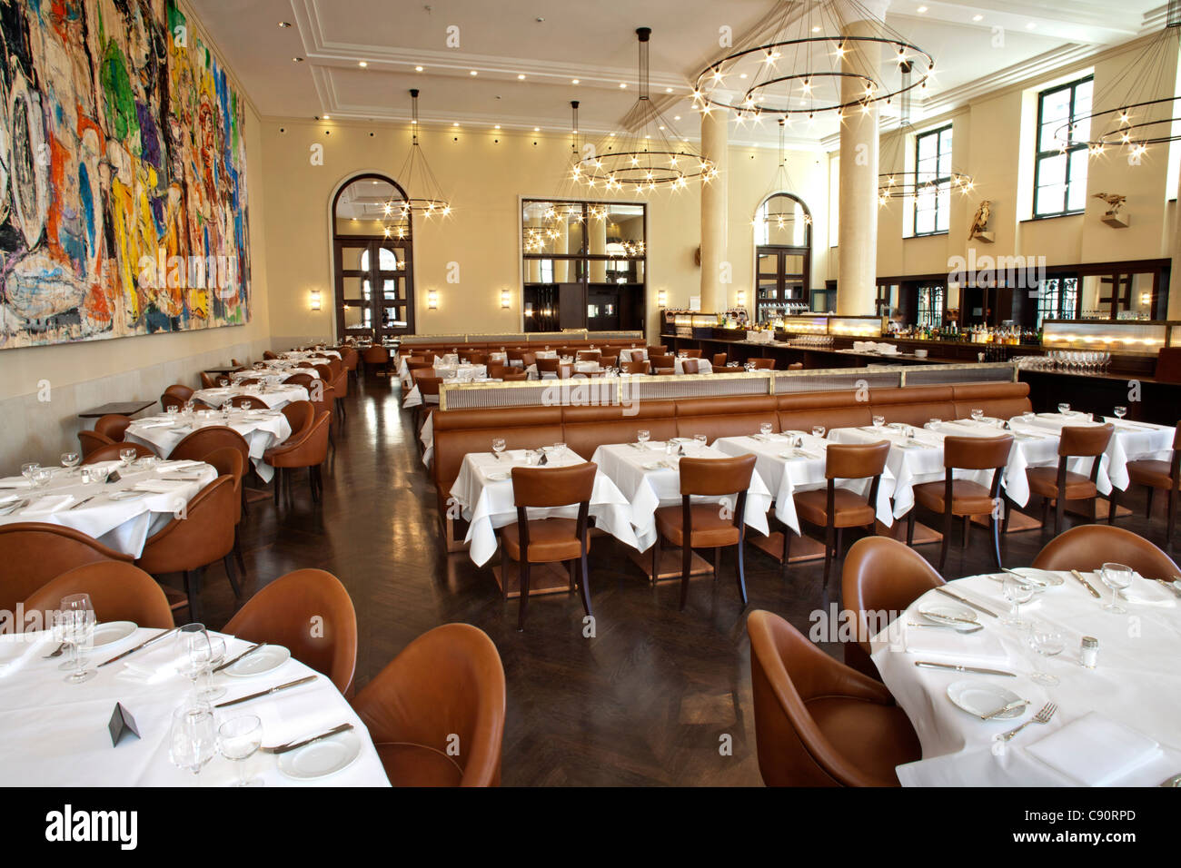 Gendarmerie restaurant, Berlin Mitte, Berlin, Germany - Stock Image