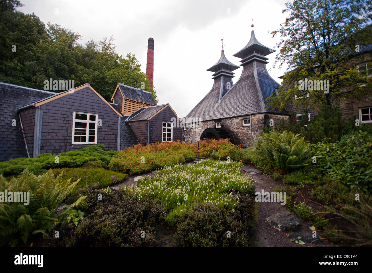 Strathisla Distillery in Keith, the oldest continuously operating distillery in Scotland, Aberdeenshire, Scotland - Stock Image