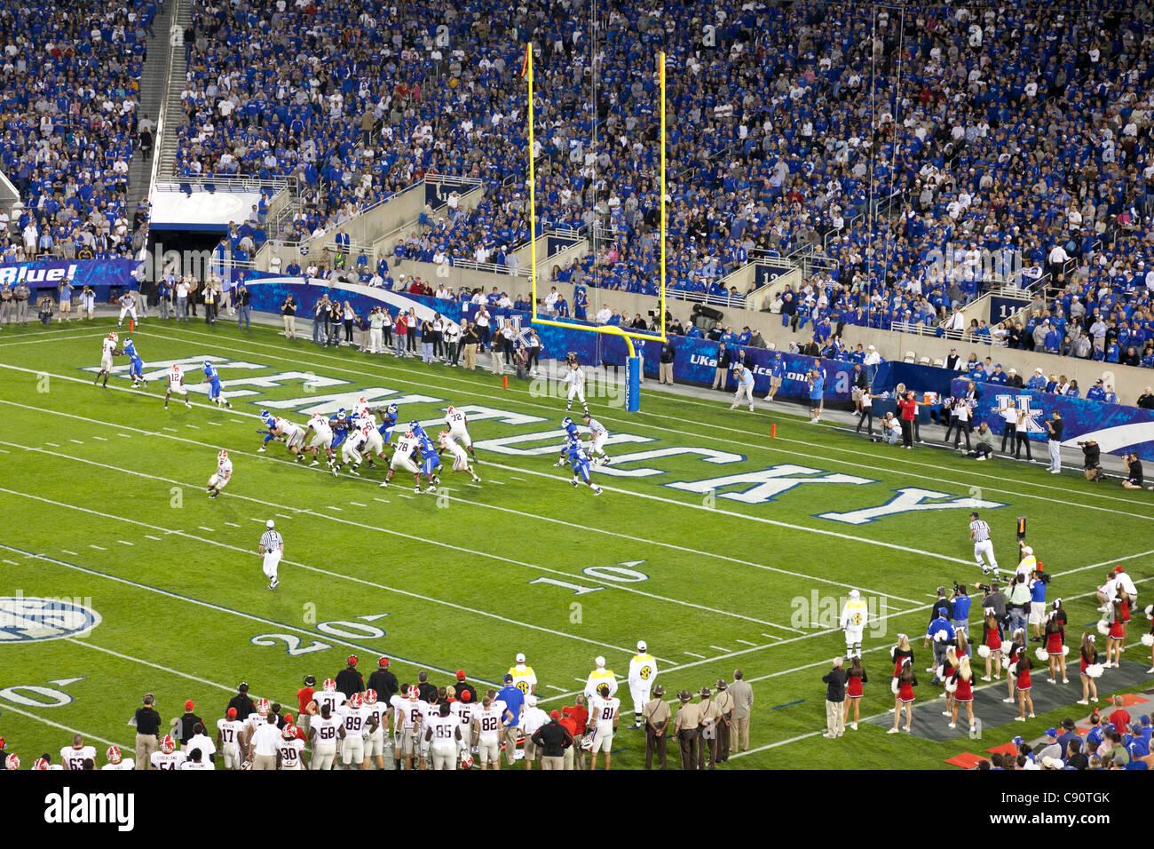 American Football Game Kentucky Wildcats against Georgia Bulldogs College team Lexington Kentucky United States - Stock Image