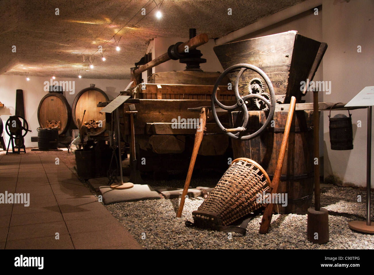 Route du Vin Ribeauville Caves Wine tasting Museum Stock Photo