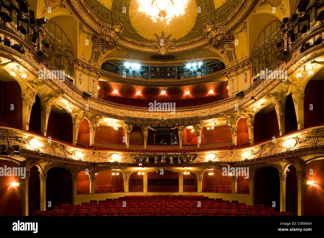 Deserted Theatre Berliner Ensemble, Theatre at Schiffbauerdamm, established by Bertolt Brecht, Berlin, Germany, - Stock Image