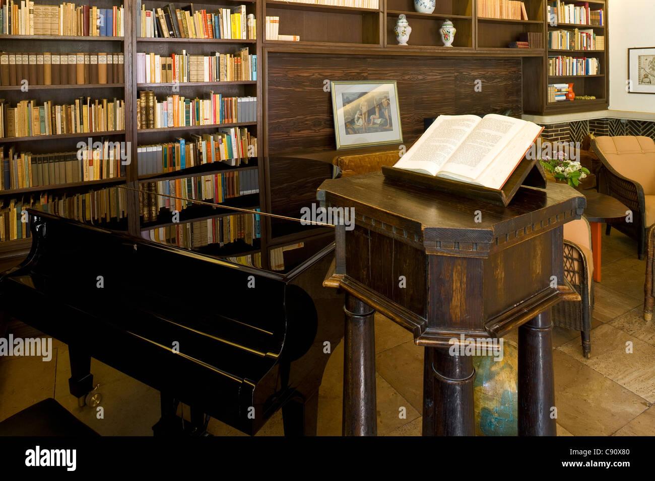 Study at Gerhart-Hauptmann-Haus, Haus Seedorn, Kloster, isle of Hiddensee, Mecklenburg-Western Pomerania, Germany, - Stock Image