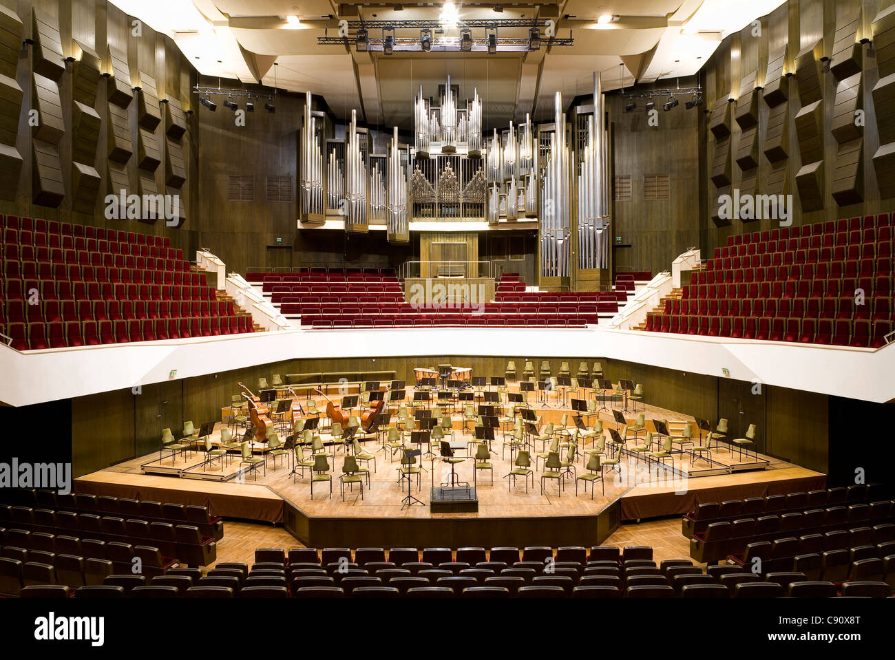 The Grosse Saal in the new Gewandhaus in Leipzig, Saxony, Germany, Europe - Stock Image
