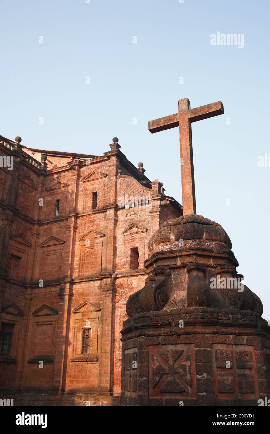 Old Goa contains many historic churches built by the Portuguese who settled as colonial rulers in the region in - Stock Image