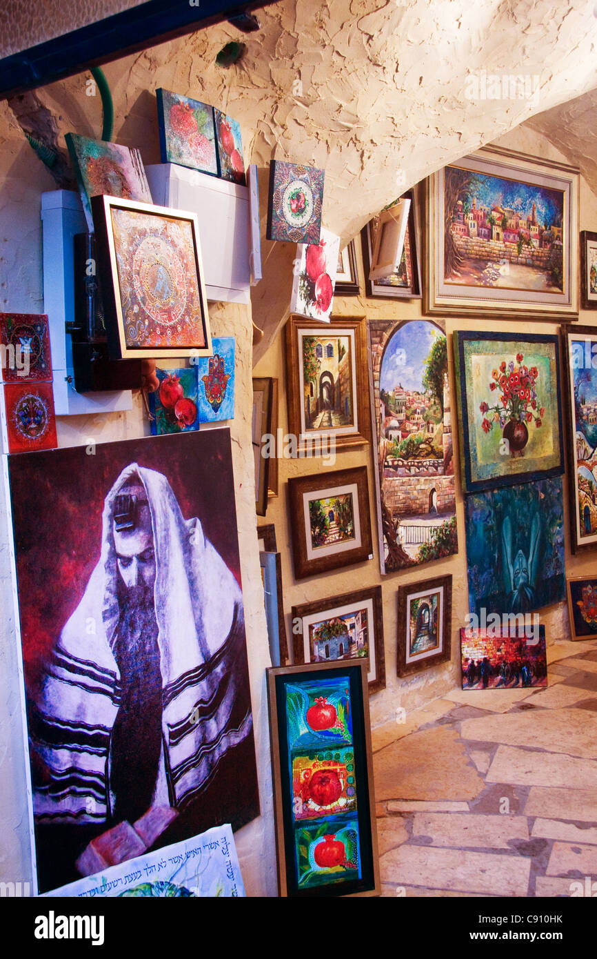 Tzfat Artist Colony in Israel - Stock Image