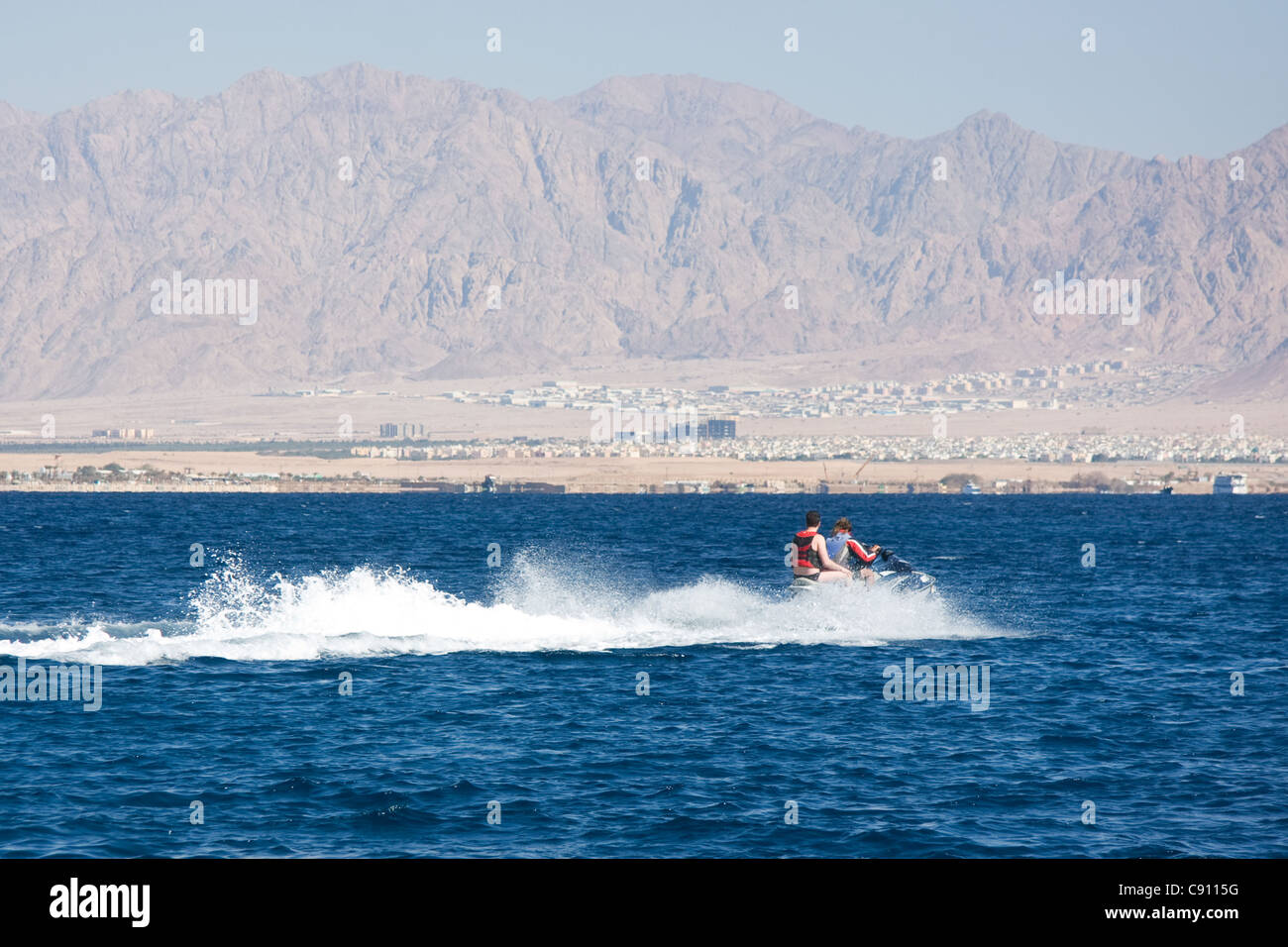 Watersports in Eilat Israel - Stock Image