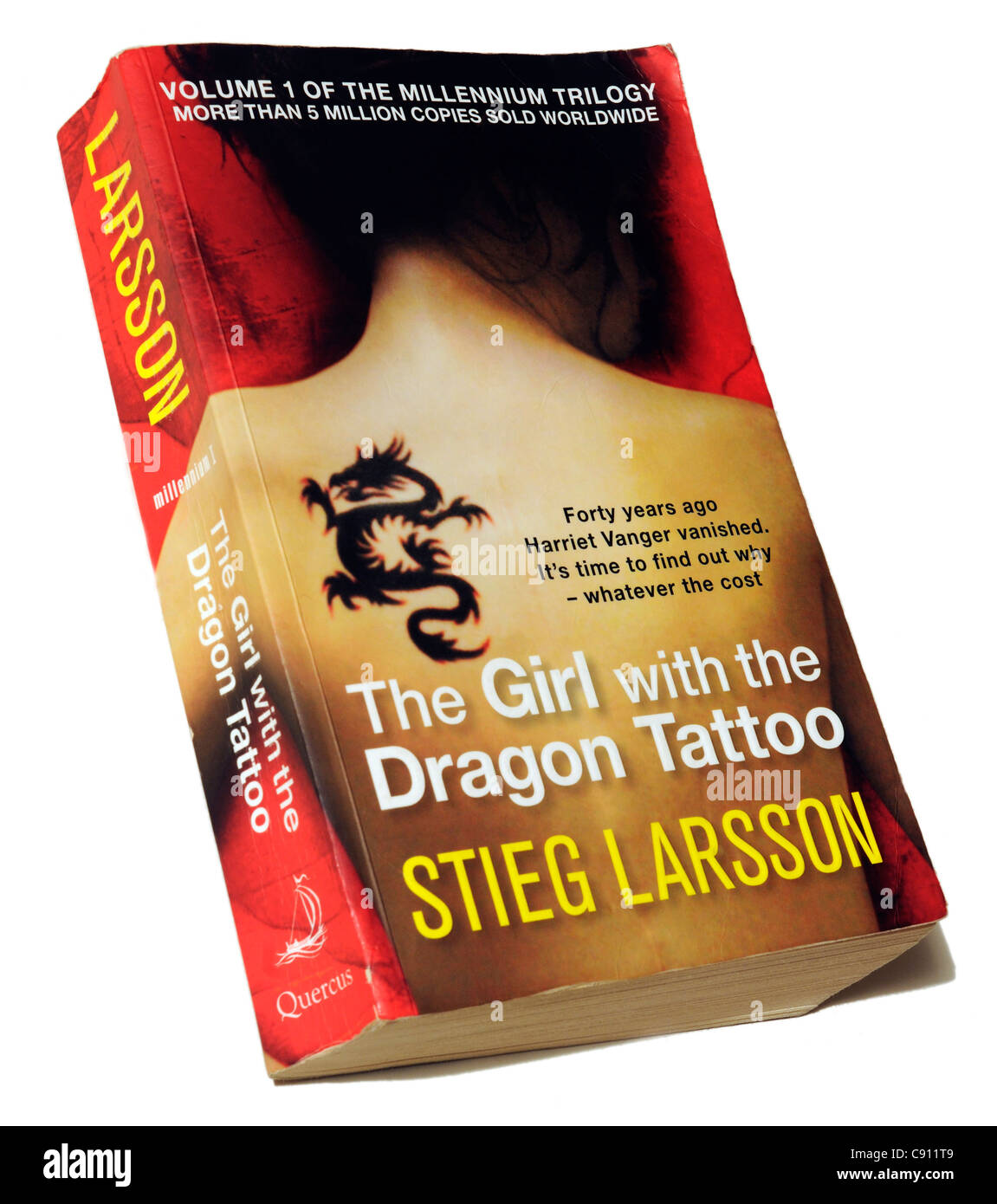The Girl with the Dragon Tattoo by Steig Larsson - Stock Image