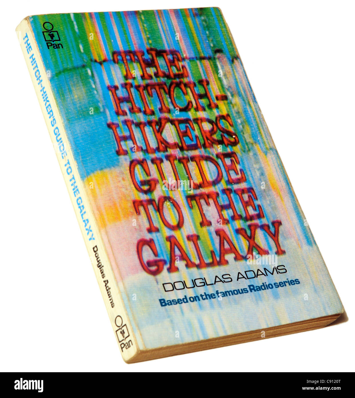 The Hitch Hikers Guide to the Galaxy by Douglas Adams - Stock Image