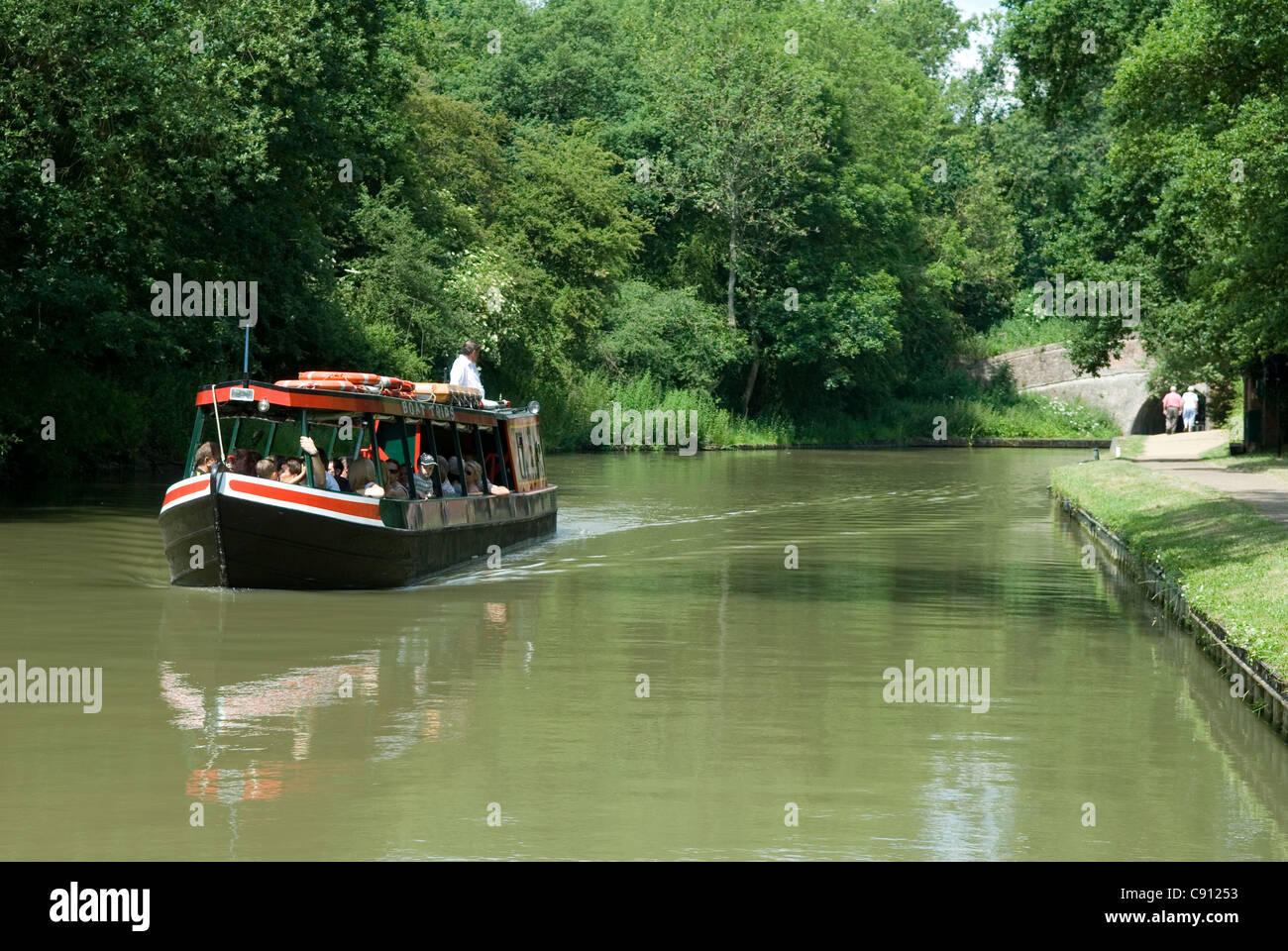 Near Stoke Bruerne on the Grand Union Canal there is Blisworth Tunnel which is the third longest canal tunnel on - Stock Image