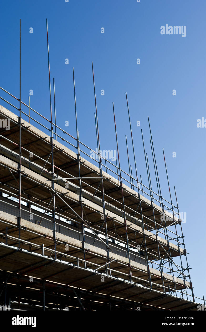 Scaffolding on a building site - Stock Image