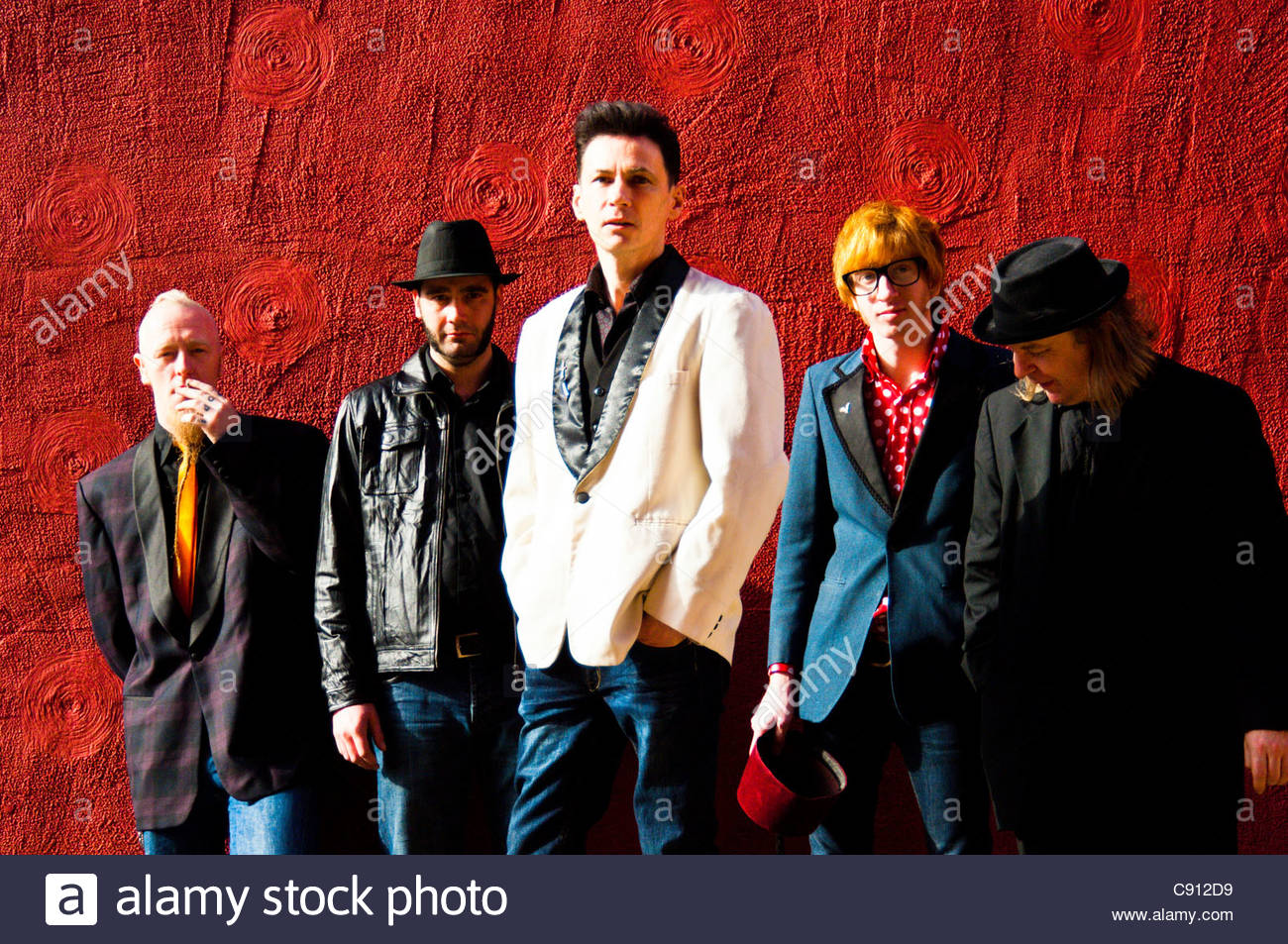 Tommy Scott and the Red Scare, official portrait Liverpool based band formed by Tommy Scott of former Liverpool - Stock Image