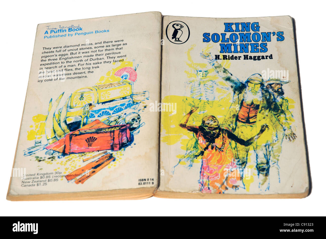 King Solomon's Mines by H Rider Haggard - Stock Image