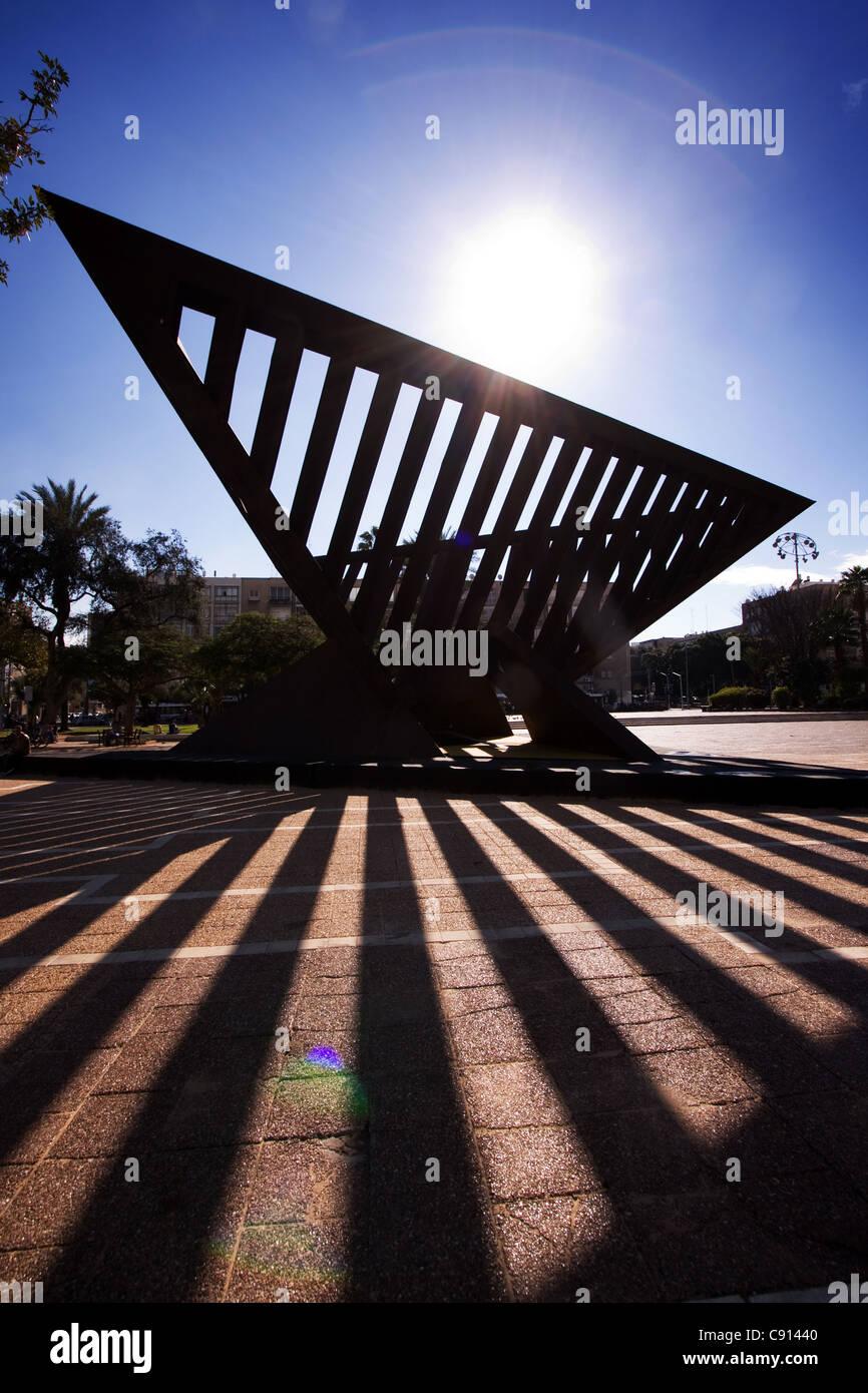 Rabin Square Tel Aviv Israel - Stock Image