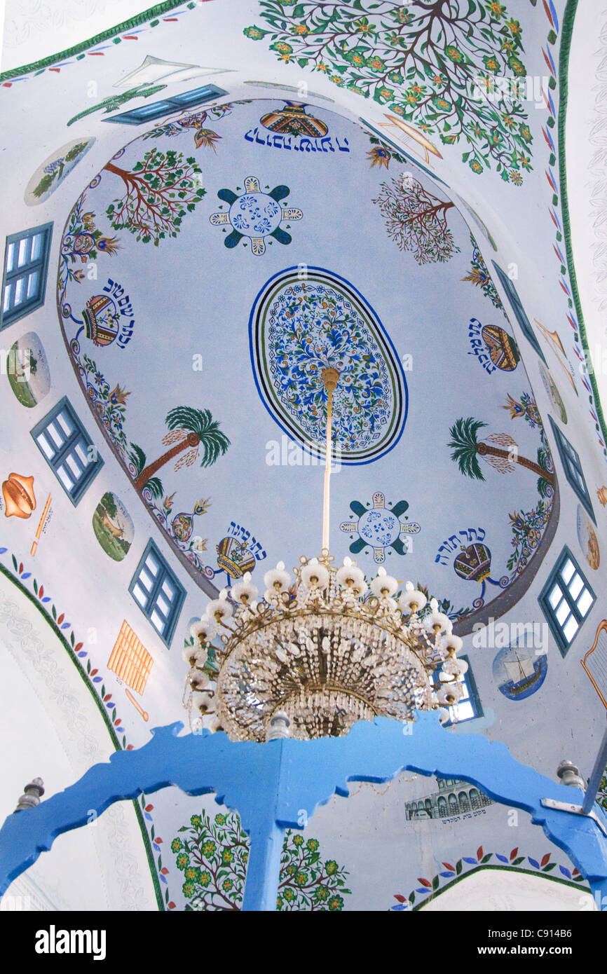 Abuhav Synagogue Ceiling in Safed Israel - Stock Image