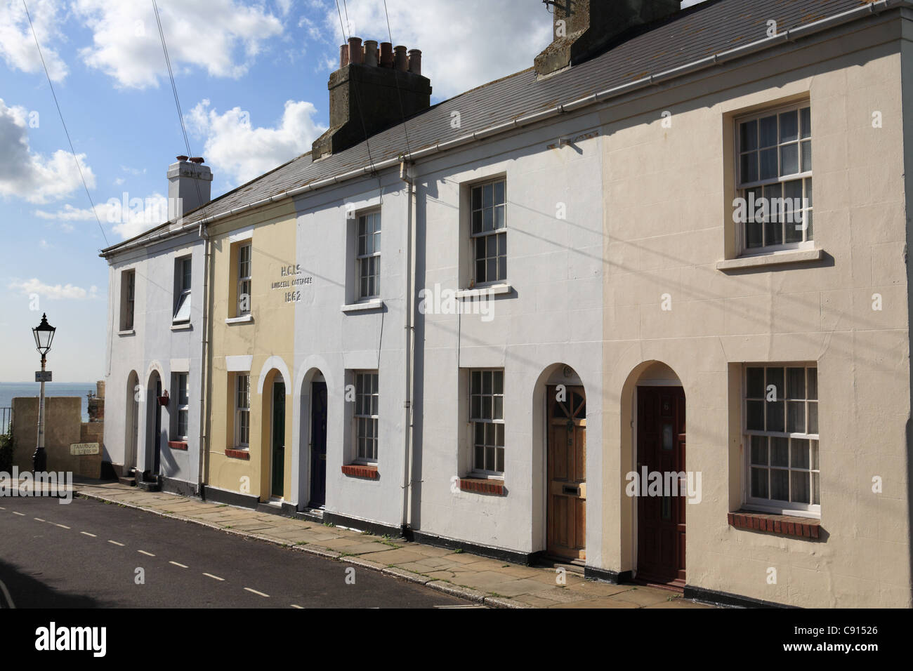 Lindsell Cottages, Hastings old Town, East Sussex, South Coast, England, UK - Stock Image