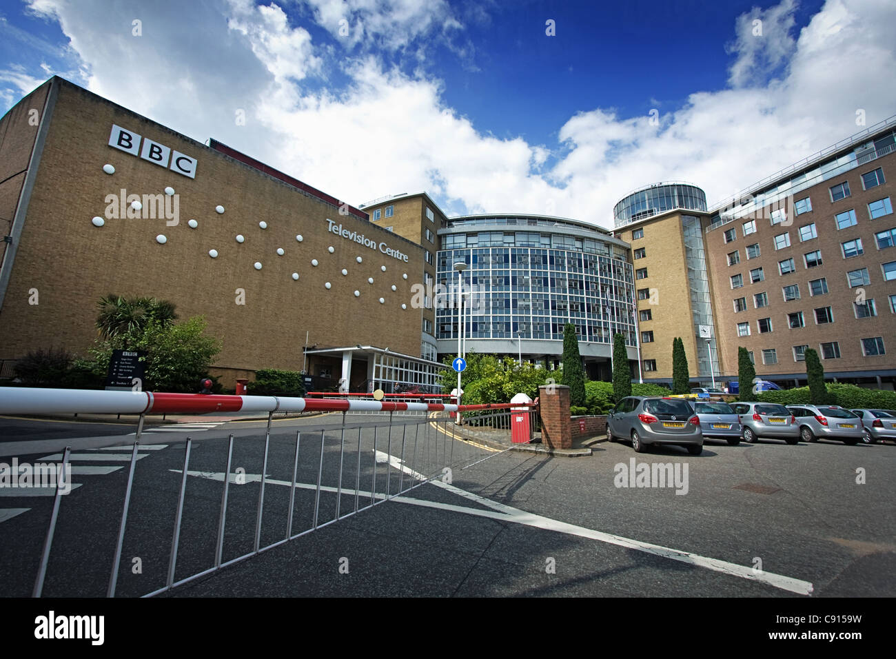BBC Television Centre Headquarters at White City in West London - Stock Image