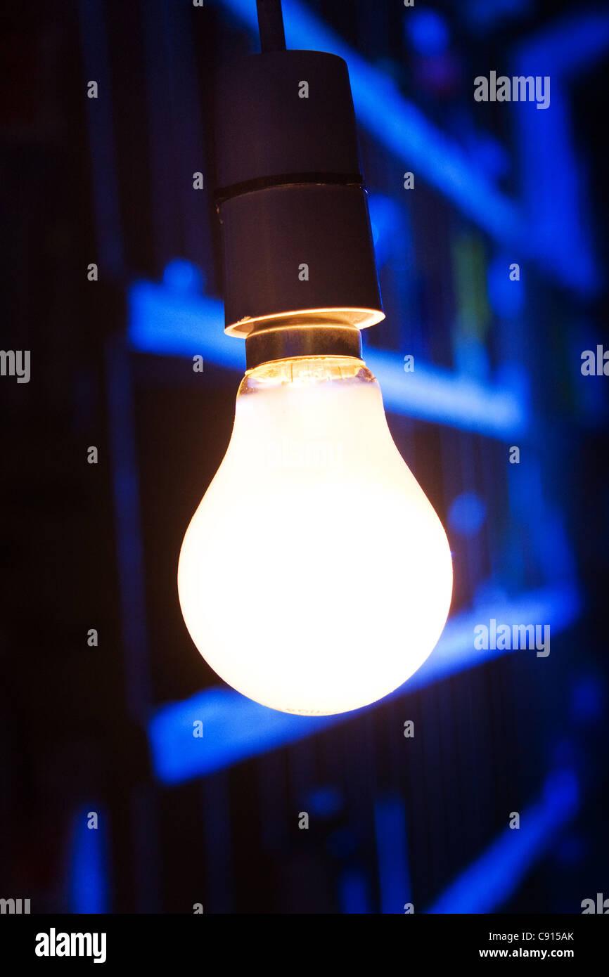 60w lightbulb - Stock Image