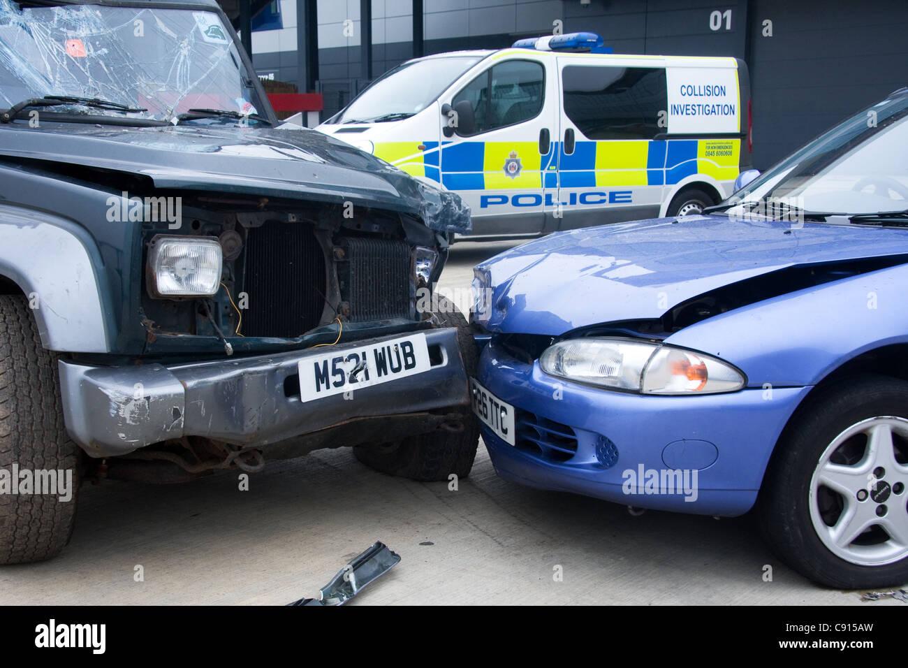 Collision Investigation scene - Stock Image