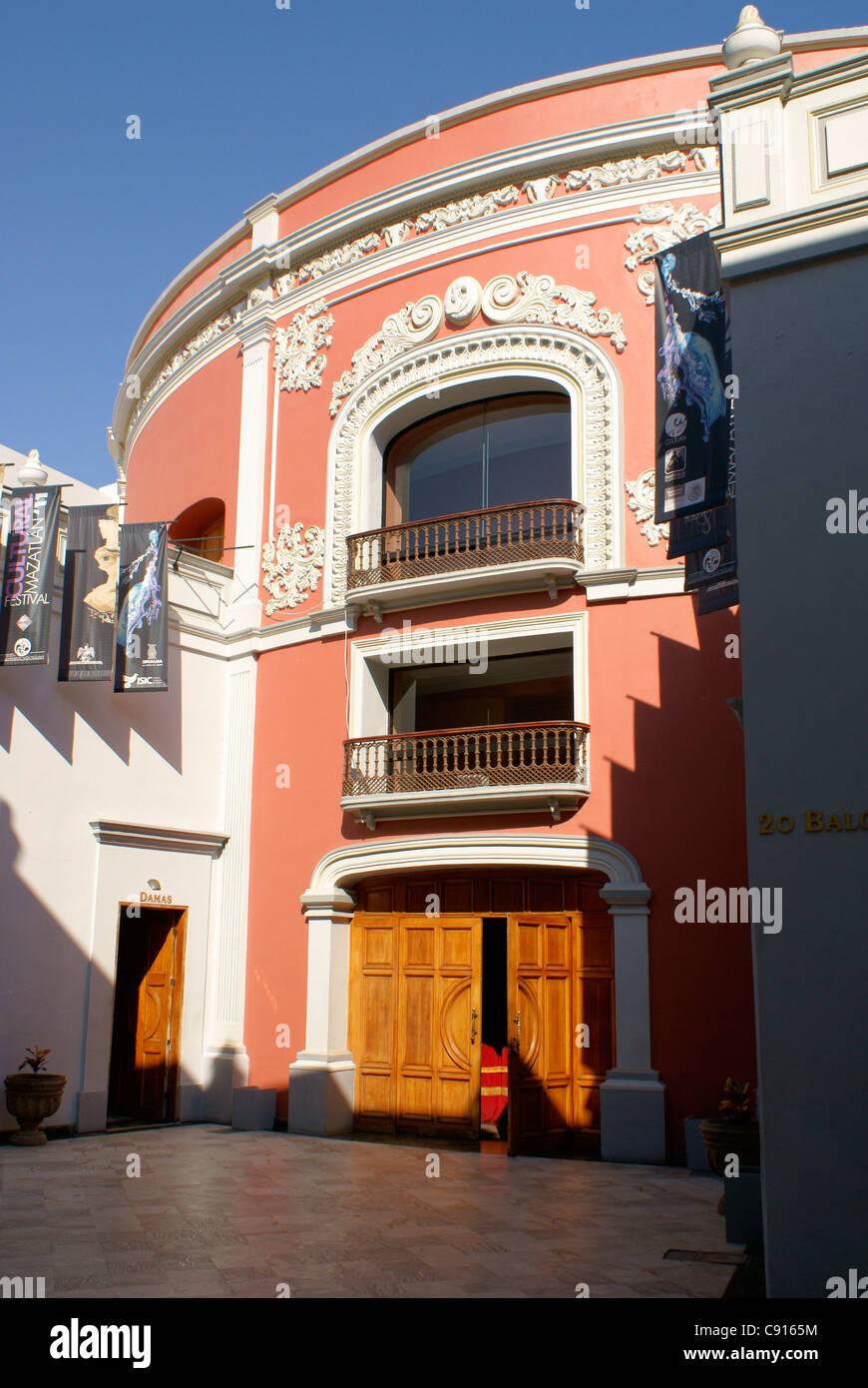 The Teatro Angela Peralta Theater in old Mazatlan, Sinaloa, Mexico - Stock Image
