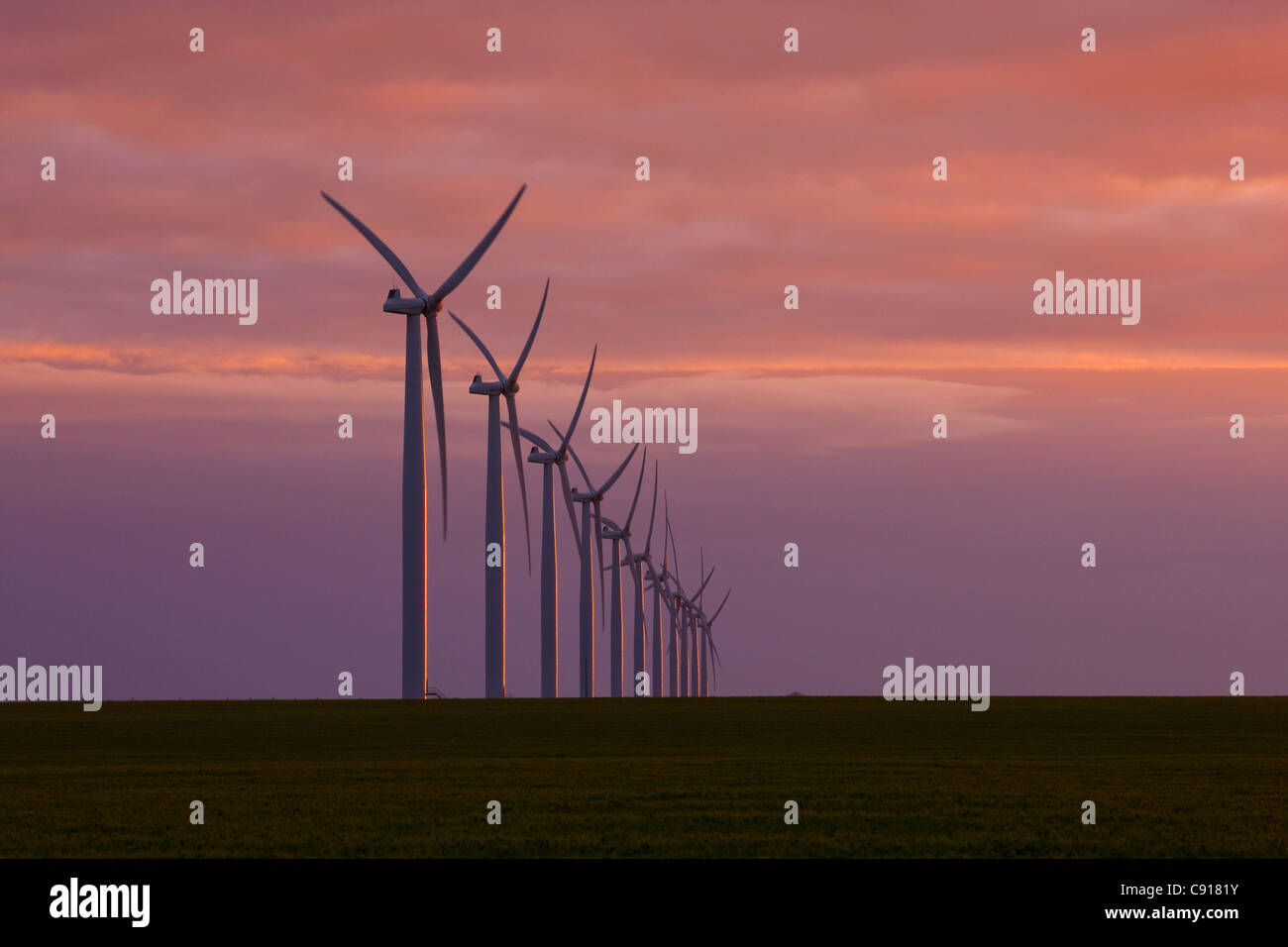 Wind turbines Fleurieu Peninsula South Australia - Stock Image