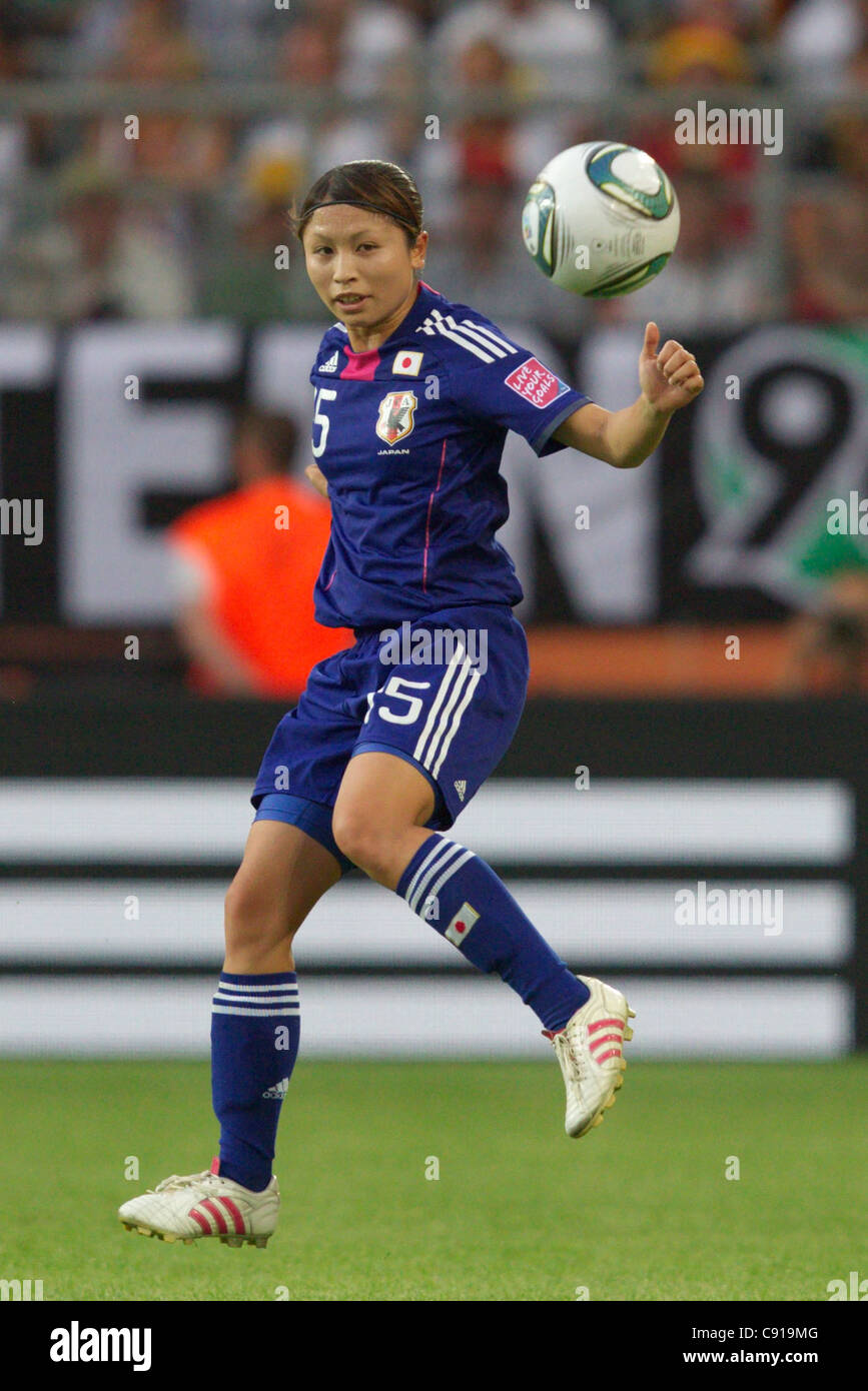 Aya Sameshima of Japan in action during a 2011 FIFA Women's World Cup quarterfinal match against Germany at - Stock Image