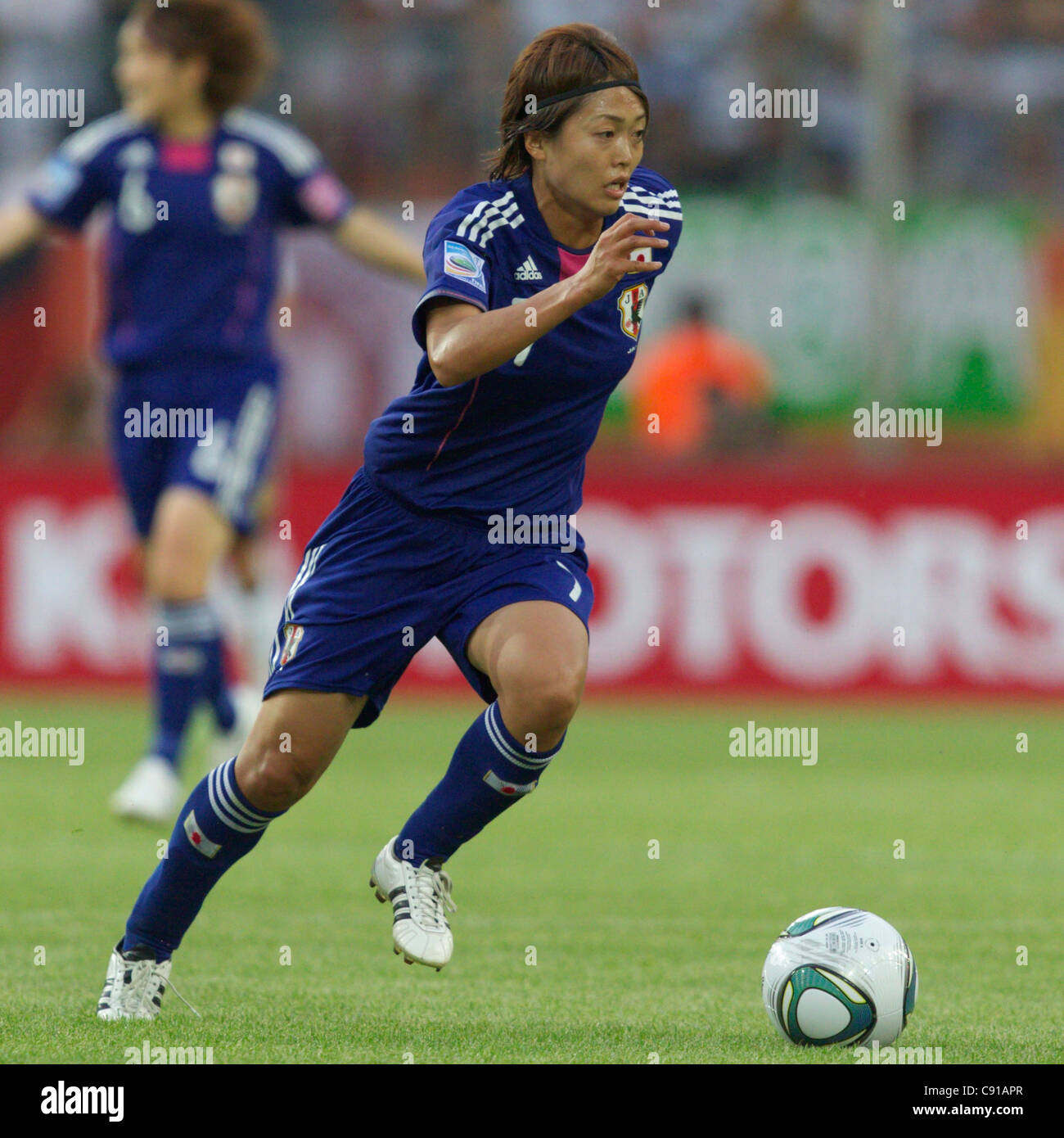 Kozue Ando of Japan in action during a 2011 FIFA Women's World Cup quarterfinal match against Germany at Arena - Stock Image