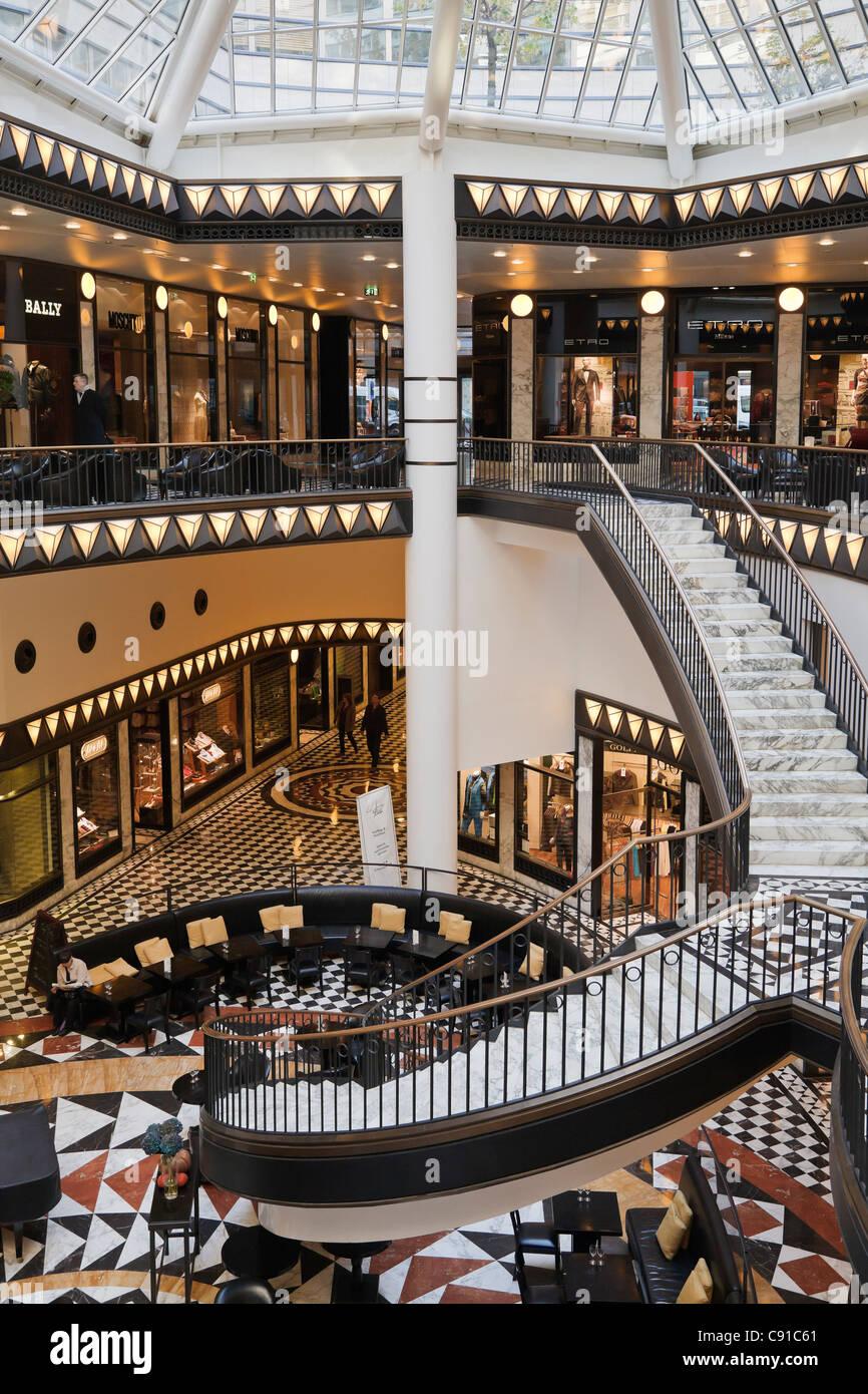 Quartier 206 Shopping Centre, Friedrichstrasse, Berlin, Germany - Stock Image