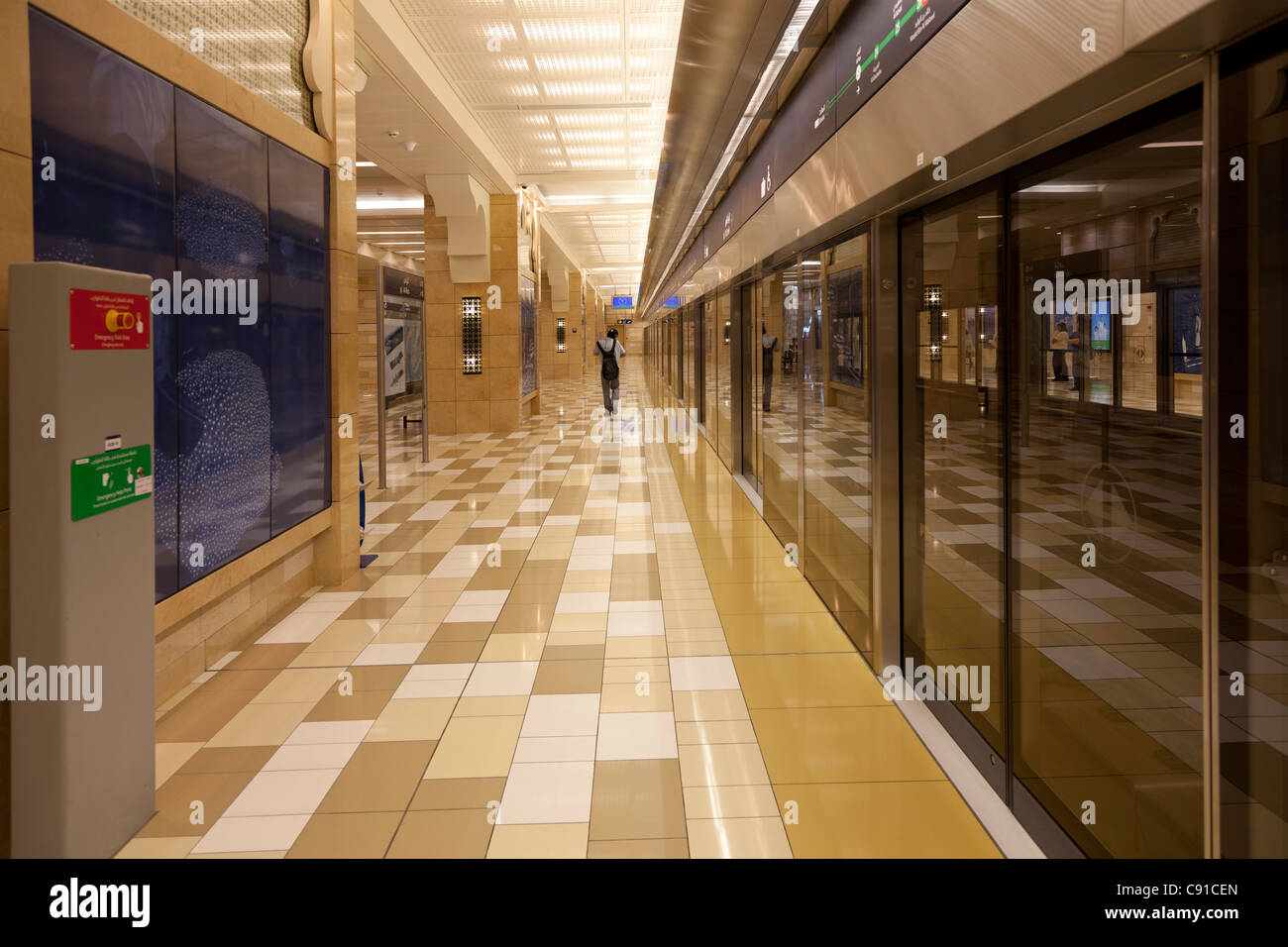 Subway station in Dubai city - Stock Image