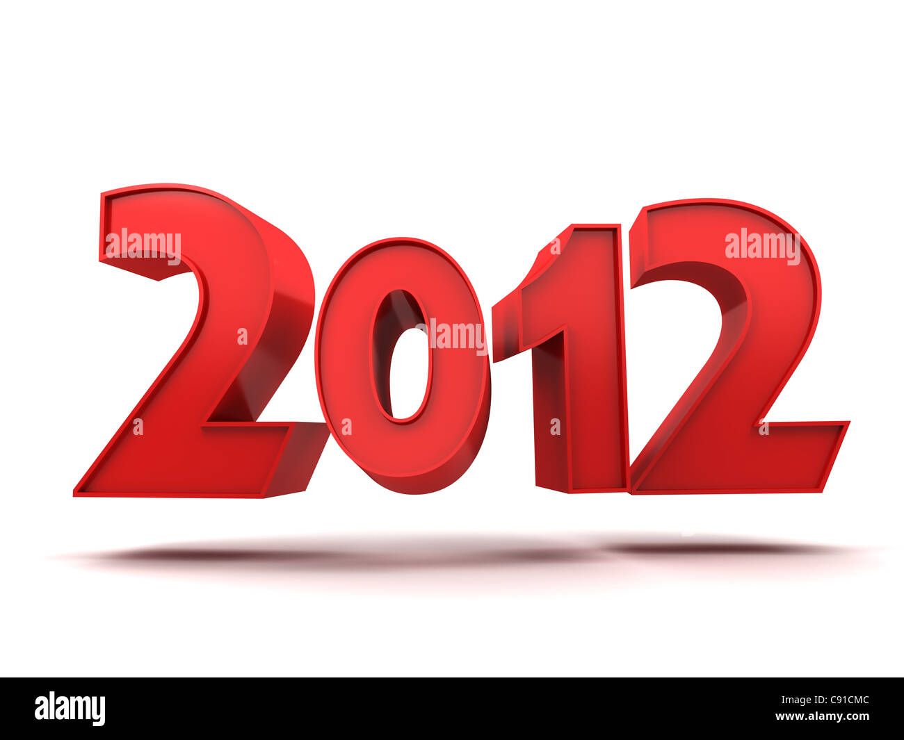 Abstract new year (done in 3d, isolated) - Stock Image