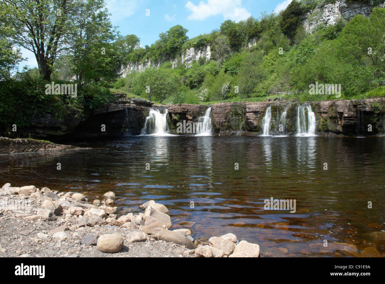 Wain Wath Force is not a substantial falls but is popular with visitors due to its accessibility by footpath and - Stock Image