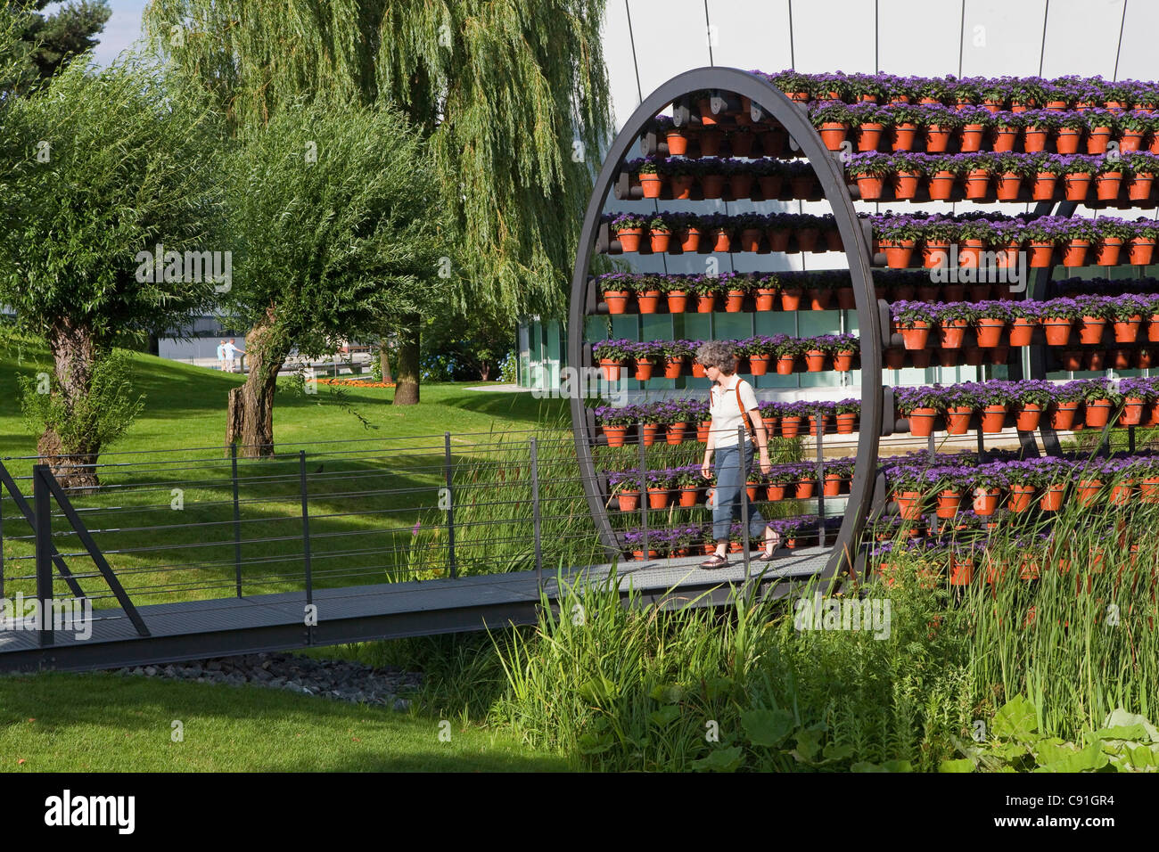 Scent Tunnel in the park of Volkswagen Autostadt, Wolfsburg, Lower saxony, Germany - Stock Image