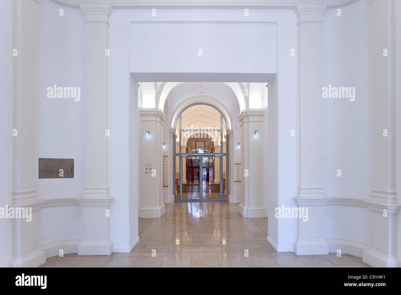 Deserted foyer inside Museum fuer Kunst und Gewerbe Hamburg, Hanseatic city of Hamburg, Germany, Europe - Stock Image