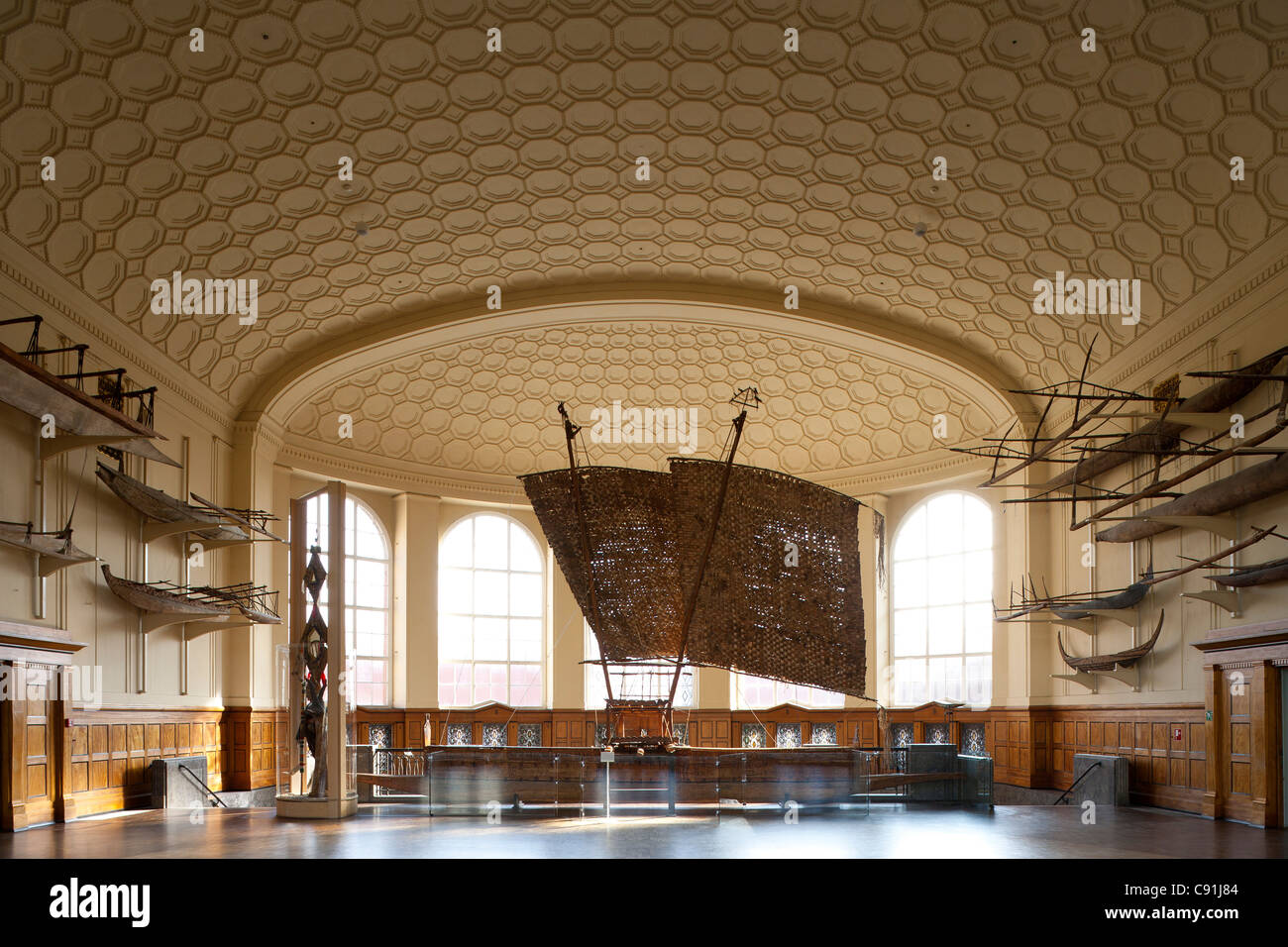 Museum of Ethnology Hamburg, Hanseatic city of Hamburg, Germany, Europe - Stock Image