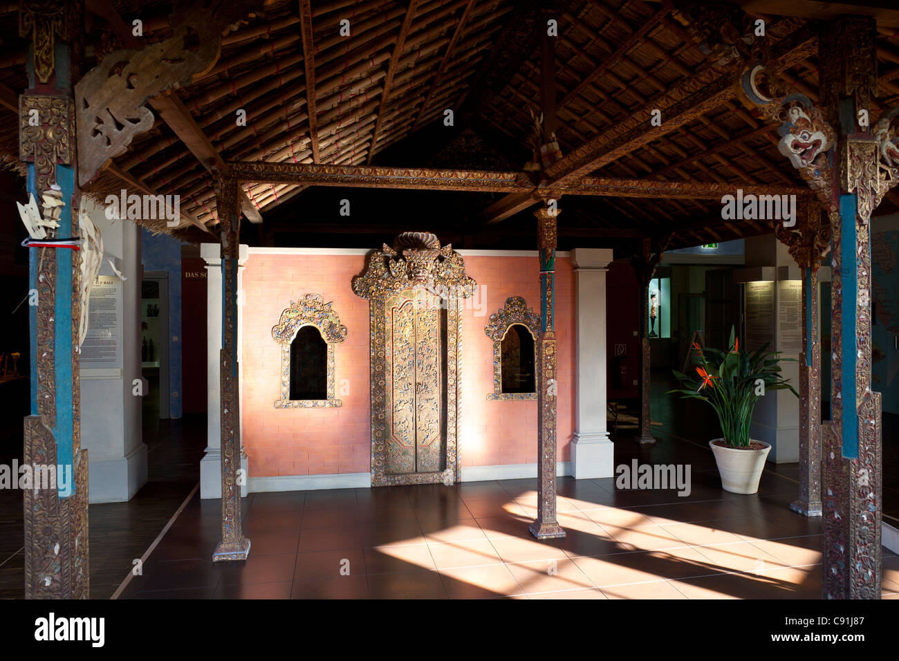 Museum of Ethnology Hamburg, Bali exhibiton, hanseatic city of Hamburg, Germany, Europe - Stock Image